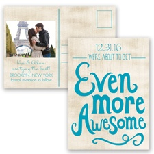 Awesome Couple - Malibu - Save the Date Postcard