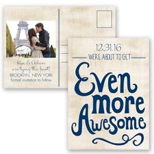 Awesome Couple - Marine - Save the Date Postcard