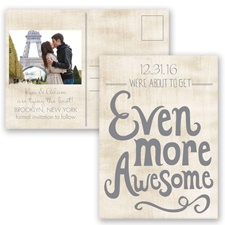 Awesome Couple - Mercury - Save the Date Postcard
