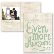 Awesome Couple - Meadow - Save the Date Postcard