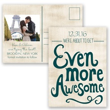 Awesome Couple - Gem - Save the Date Postcard