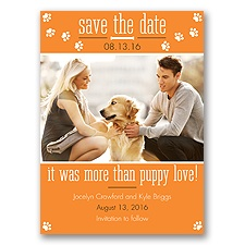 Puppy Love - Tangerine - Save the Date