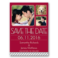 Furry Friend - Apple - Photo Save the Date Postcard