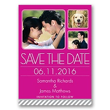 Furry Friend - Begonia - Photo Save the Date Postcard
