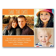 From Kids to Kisses - Tangerine - Save the Date