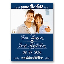 Sweetest Date - Marine - Photo Save The Date Magnet
