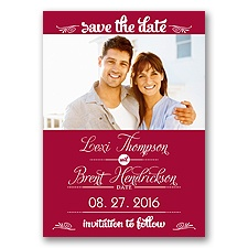 Sweetest Date - Apple - Photo Save The Date Magnet