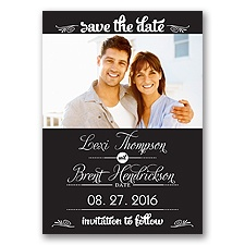 Sweetest Date - Black - Photo Save The Date Magnet
