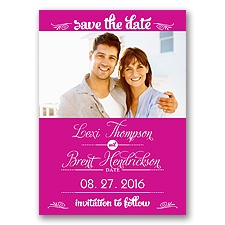 Sweetest Date - Begonia - Photo Save The Date Magnet