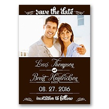 Sweetest Date - Chocolate - Photo Save The Date Magnet