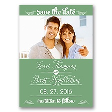 Sweetest Date - Clover - Photo Save The Date Magnet