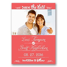 Sweetest Date - Guava - Photo Save The Date Magnet