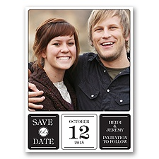 Photo Fantastic - Black - Save the Date