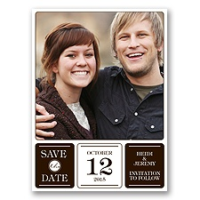 Photo Fantastic - Chocolate - Save the Date