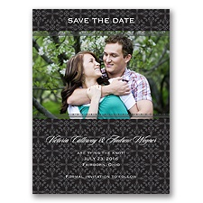 Victorian Charm - Black - Save the Date