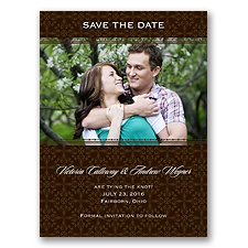 Victorian Charm - Chocolate - Save the Date