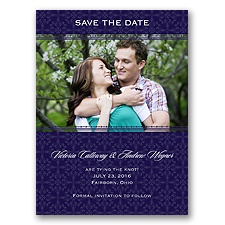 Victorian Charm - Lapis - Save the Date