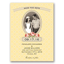 Vintage Photo Album - Canary - Save the Date