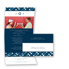 Playfully Plaid - Peacock - Seal and Send Invitation
