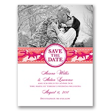 Camo Cutie - Coral Reef - Save the Date