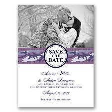 Camo Cutie - Wisteria - Save the Date