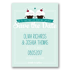 Happy Cupcakes Photo - Sea Glass - Save the Date Postcard