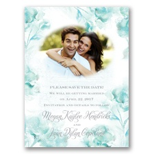 I Dream of Peonies - Sea Glass - Save the Date