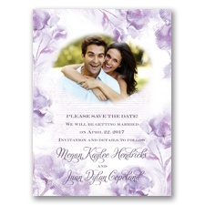 I Dream of Peonies - Soft Violet - Save the Date Card