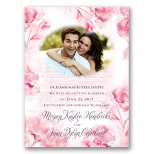 I Dream of Peonies - Pink Blossom - Save the Date Card