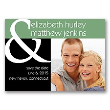 Ampersand Photo Magnet - Save The Date - Clover