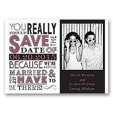 Ga Ga Photo - Rosewood - Save the Date Magnet