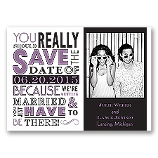 Ga Ga Photo - Wisteria - Save the Date Magnet