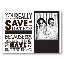 Ga Ga Photo - Chocolate - Save the Date Magnet