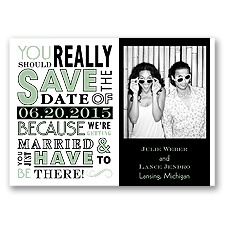 Ga Ga Photo - Meadow - Save the Date Magnet