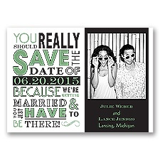Ga Ga Photo - Clover - Save the Date Magnet
