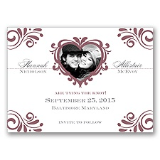 Bliss - Rosewood - Photo Save the Date Magnet