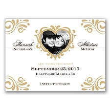 Bliss - Golden - Photo Save the Date Magnet