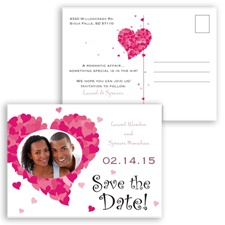 Sweetheart Photo - Rosewood - Save the Date Postcard