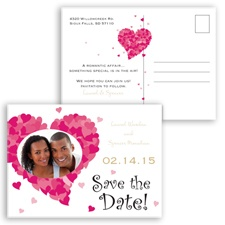 Sweetheart Photo - Golden - Save the Date Postcard