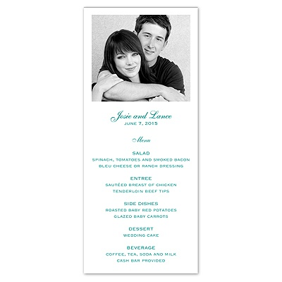 Photo - Menu Card