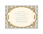 Touch of Gold - Reception Card