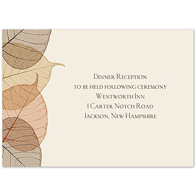 Lucent Leaves - Reception Card