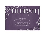 Fanciful Chalkboard - Plum - Reception Card