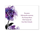 Abundant Color - Sangria - Reception Card