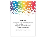Rainbow Hearts - Reception Card