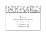 Deco Glamour - Silver - Reception Card
