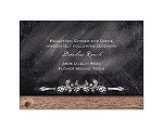 Rustic Chalkboard - Reception Card