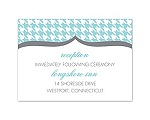 Happily Houndstooth - Reception Card