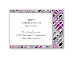 Mad for Plaid - Sangria - Reception Card