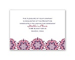 Particularly Paisley - Lapis - Reception Card